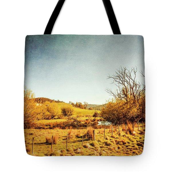 Rustic Pastoral Australia Tote Bag