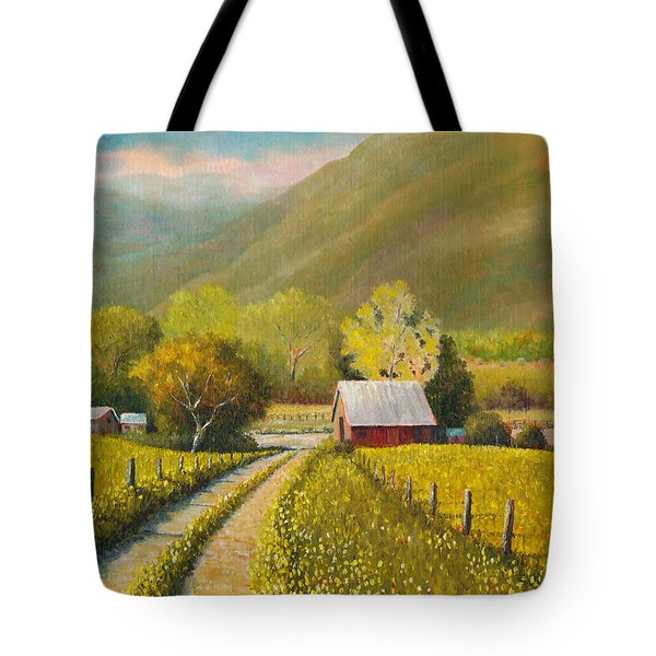 Rustic Road Tote Bag