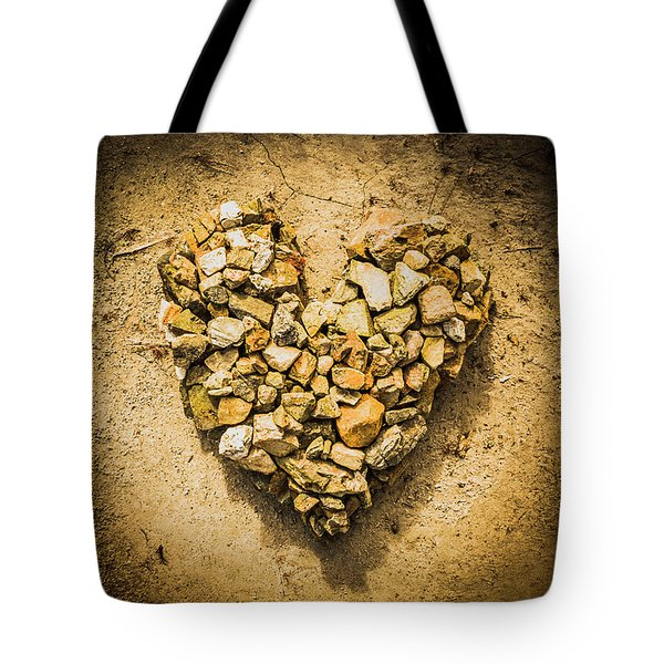 Rustic Rock Romance Tote Bag