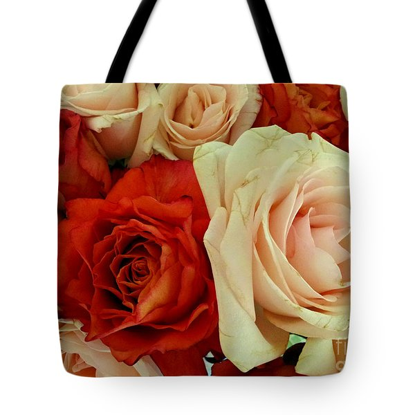 Rustic Rose Bouquet Tote Bag by Margaret Newcomb