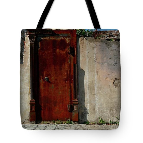 Tote Bag featuring the photograph Rustic Ruin by Lori Mellen-Pagliaro