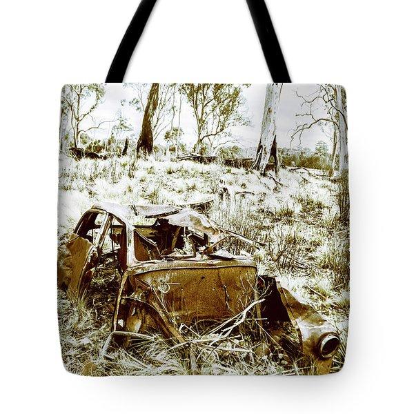 Rustic Rural Decay Tote Bag