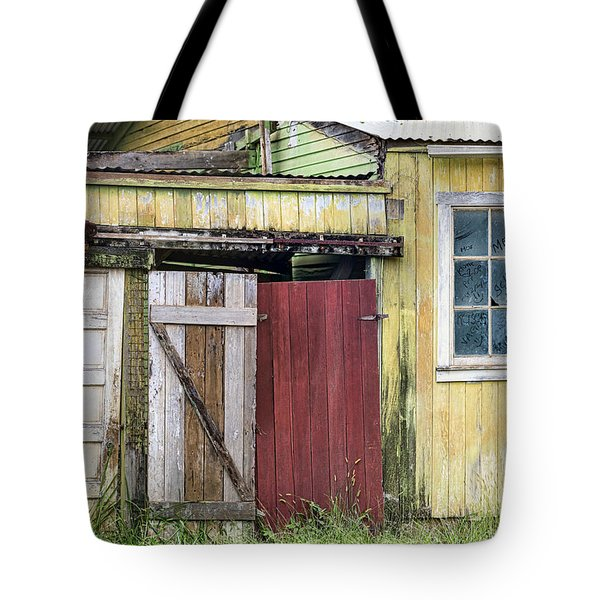 Rustic Shed Panorama Tote Bag