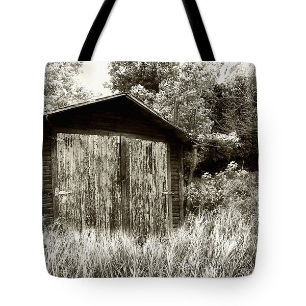 Rustic Shed Tote Bag by Perry Webster