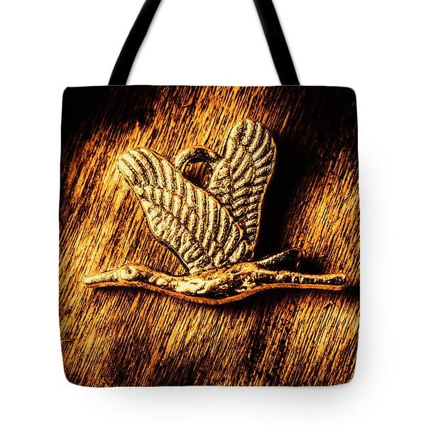 Rustic Stork Pendant Tote Bag