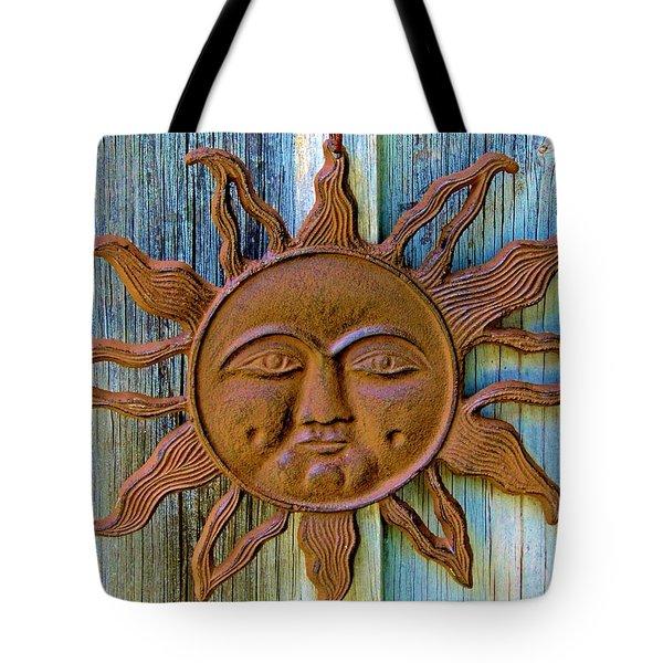 Rustic Sunface Tote Bag