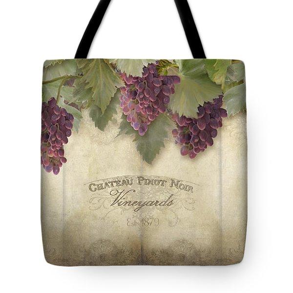 Rustic Vineyard - Pinot Noir Grapes Tote Bag