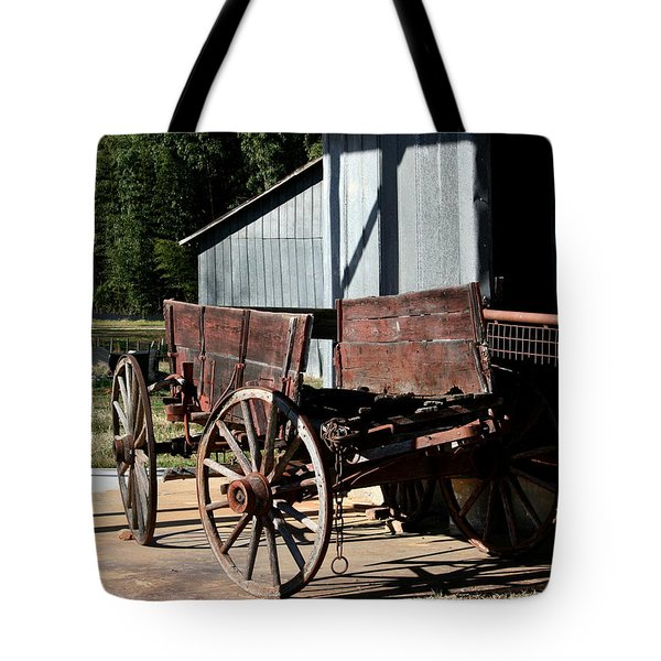 Rustic Wagon Tote Bag by Cathy Harper
