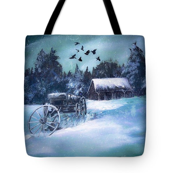 Rustic Winter Barn  Tote Bag