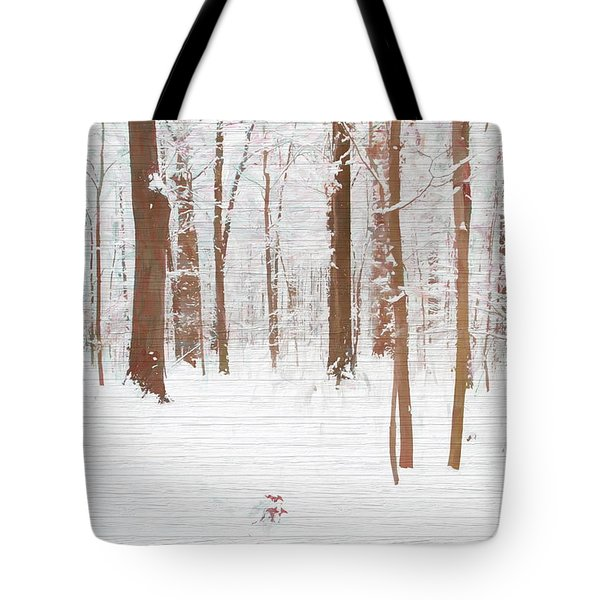 Rustic Winter Forest Tote Bag by Dan Sproul