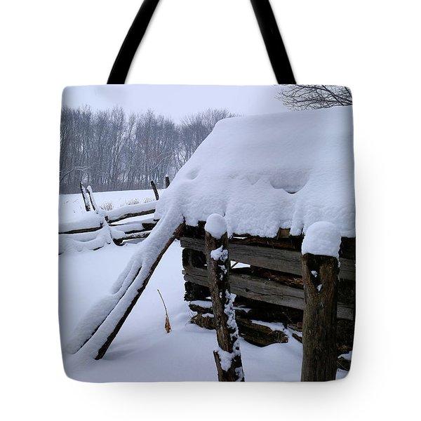 Rustic Winter Setting Tote Bag