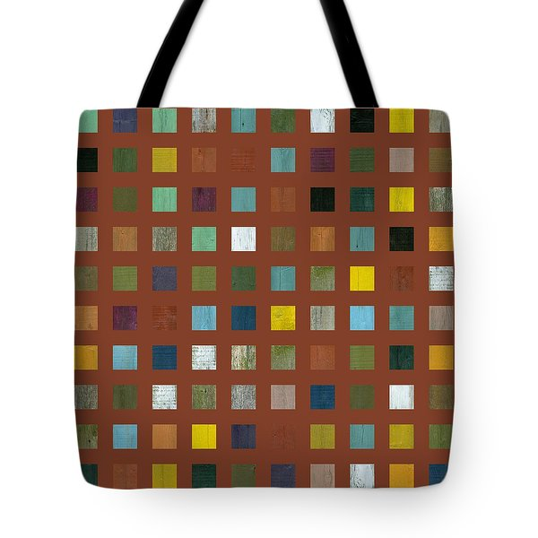 Rustic Wooden Abstract Vll Tote Bag by Michelle Calkins
