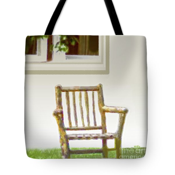 Rustic Wooden Rocking Chair Tote Bag