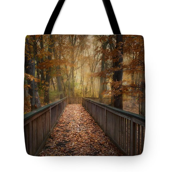 Tote Bag featuring the photograph Rustic Woodland by Robin-Lee Vieira