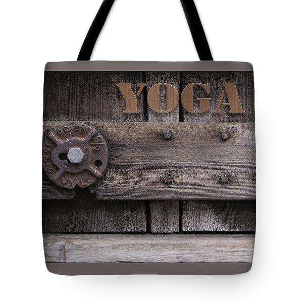 Rustic Yoga Tote Bag by Kandy Hurley