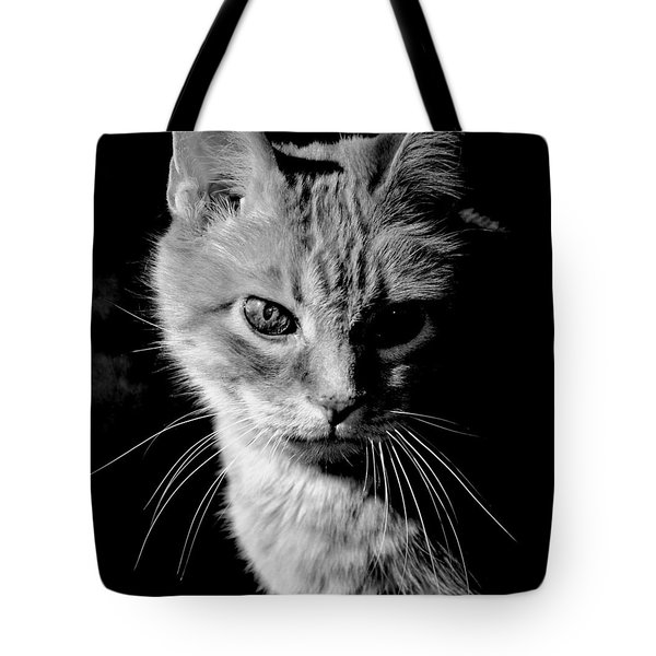 Rustie, Blind, Deaf Extroadinaire Black And White Tote Bag