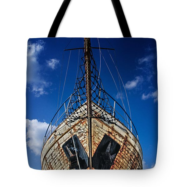 Rusting Boat Tote Bag by Stelios Kleanthous