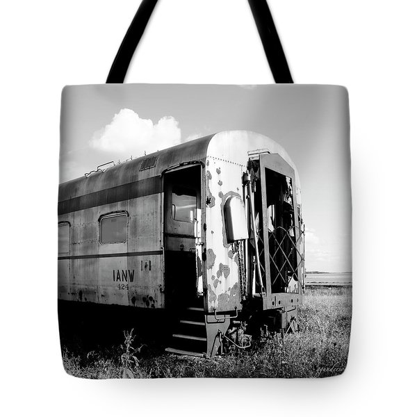 Rusting On The Rails Tote Bag