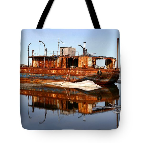 Rusty Barge Tote Bag by Anthony Jones
