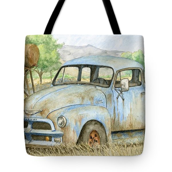 Rusty Blue Chevy Tote Bag