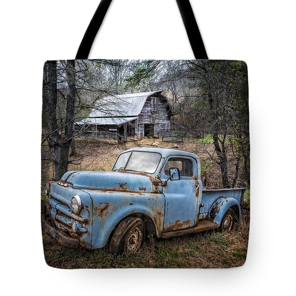 Rusty Blue Dodge Tote Bag