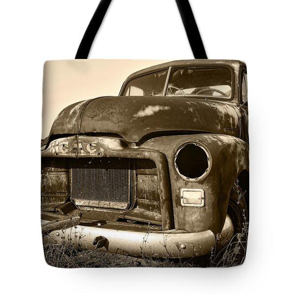 Rusty But Trusty Old Gmc Pickup Tote Bag by Gordon Dean II