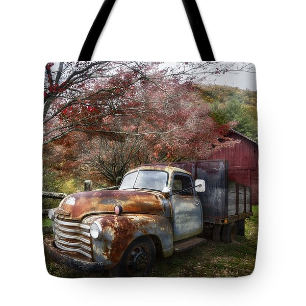 Rusty Chevy Pickup Truck Tote Bag