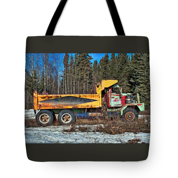 Rusty Dump Truck Tote Bag