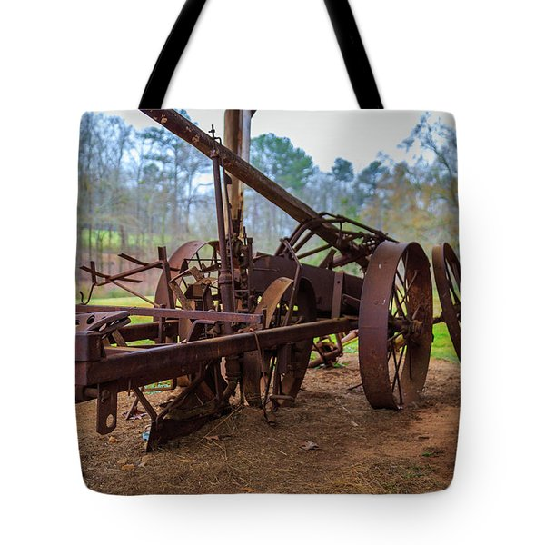 Tote Bag featuring the photograph Rusty Farming by Doug Camara