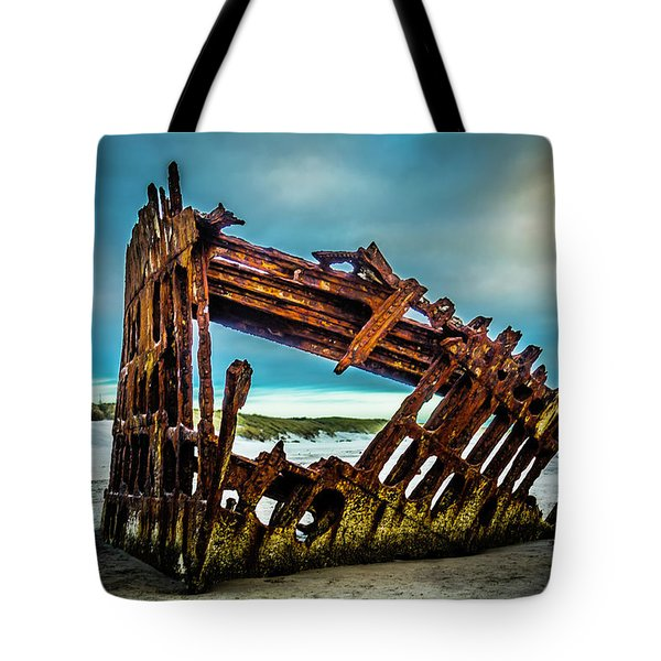 Rusty Forgotten Shipwreck Tote Bag