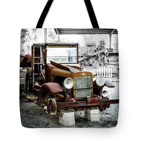 Rusty International Truck Tote Bag