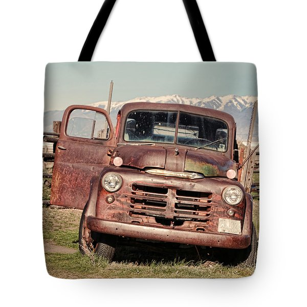 Tote Bag featuring the photograph Rusty Old Dodge by Ely Arsha