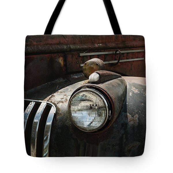 Tote Bag featuring the photograph Rusty Old Headlight  by Kim Hojnacki