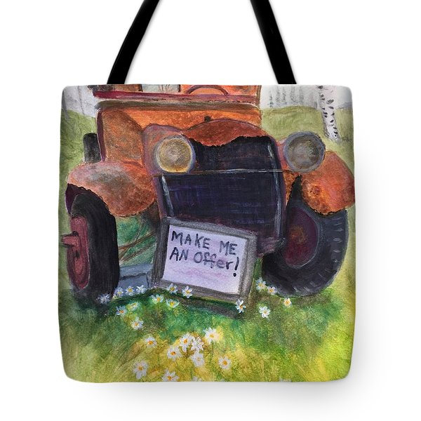Rusty Old Relic Tote Bag