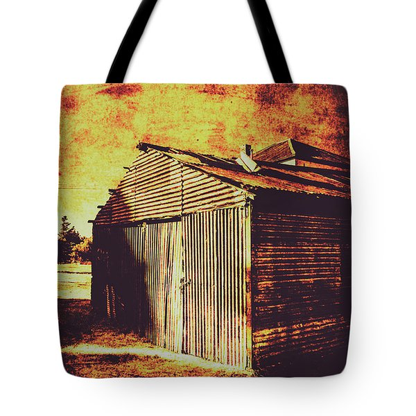 Rusty Outback Australia Shed Tote Bag