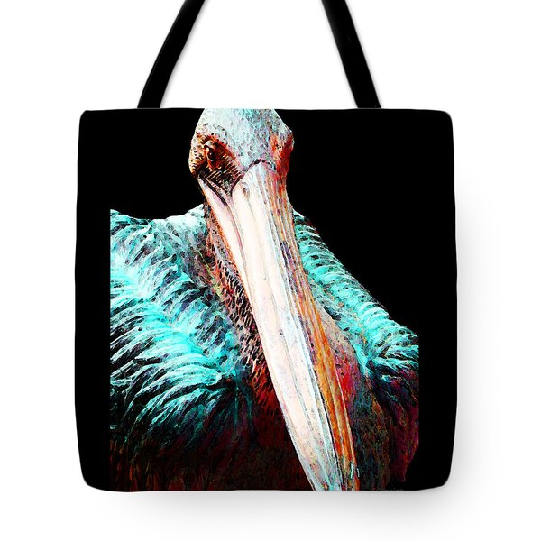 Rusty - Pelican Art Painting By Sharon Cummings Tote Bag by Sharon Cummings