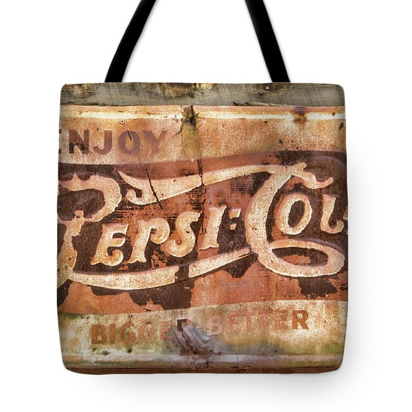 Rusty Pepsi Cola Tote Bag
