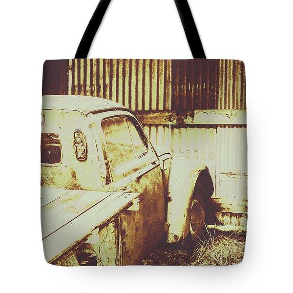 Rusty Pickup Garage Tote Bag