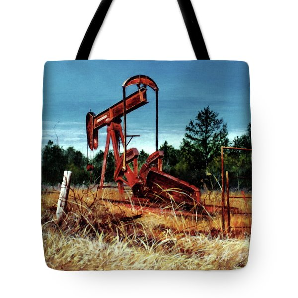 Rusty Pump Jack Tote Bag
