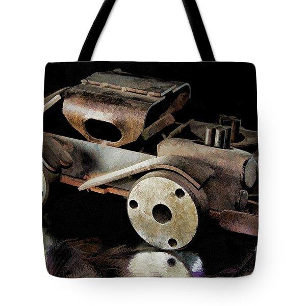 Rusty Rat Rod Toy Tote Bag by Wilma Birdwell