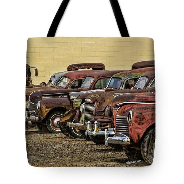 Rusty Row Tote Bag