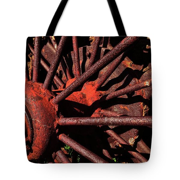 Rusty Wheel Tote Bag