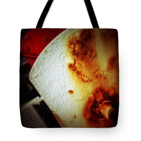 Tote Bag featuring the photograph Rusty Winch by Olivier Calas