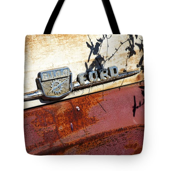 Tote Bag featuring the photograph Rusty's Ford F 100 by Allen Carroll
