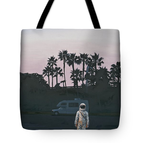 Tote Bag featuring the painting Rv Dusk by Scott Listfield