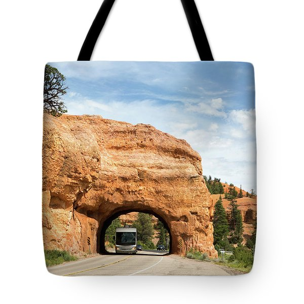 Rv Red Canyon Tunnel Utah Tote Bag