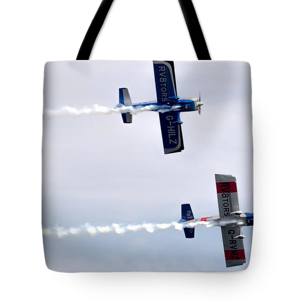 Tote Bag featuring the photograph Rv8tors Side By Side by Scott Lyons