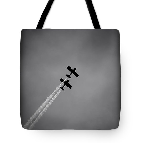 Tote Bag featuring the photograph Rv8tors Silhouette Sunderland Air Show 2014 by Scott Lyons