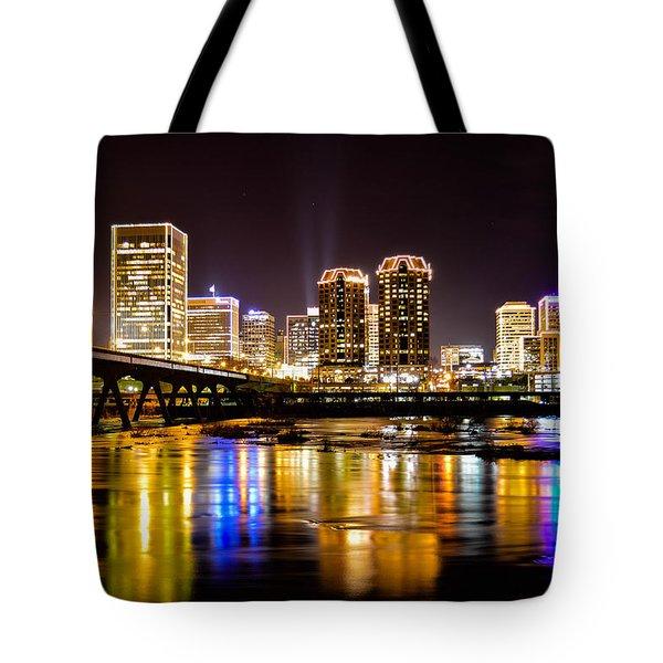 Rva Holiday Skyline 3 Tote Bag