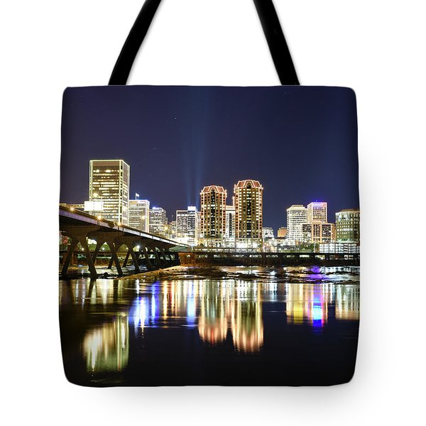 Rva Night Lights Tote Bag